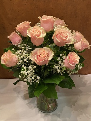 PINK ROSES ARRANGED from Redwood Florist in New Brunswick, NJ