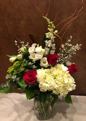 SEASONAL TALL VASE ARRANGEMENT from Redwood Florist in New Brunswick, NJ